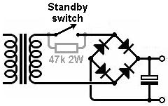 the valve wizard a bridge rectifier the switch can be placed before the rectifier where it again avoids continuous dc a parallel resistor again gives a soft start and